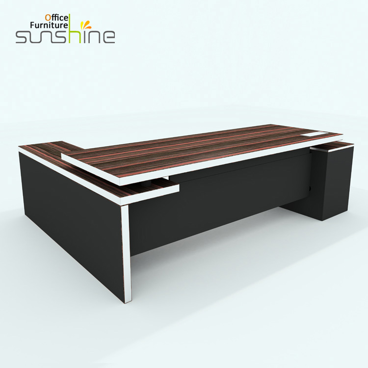 Attractive Modern L Shaped Table Design Executive Manager Boss CEO Office Desk KIA 05