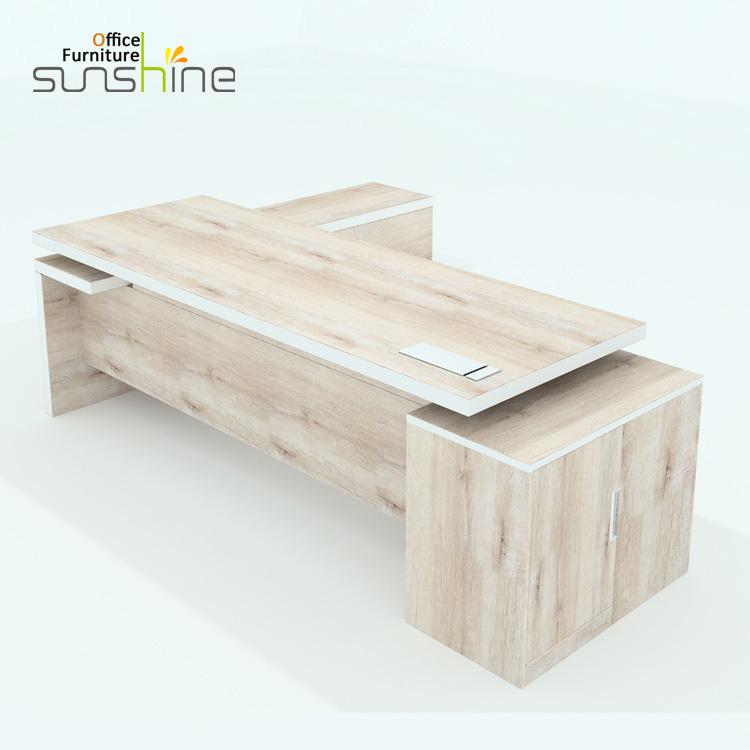 Luxury ceo manager table design melamine wooden executive modern office desk  KIA-05