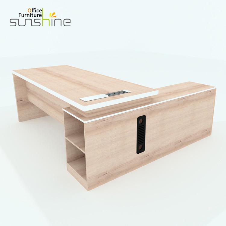 New design MDF luxury wood table modular office furniture modern CEO executive desk KIA-03