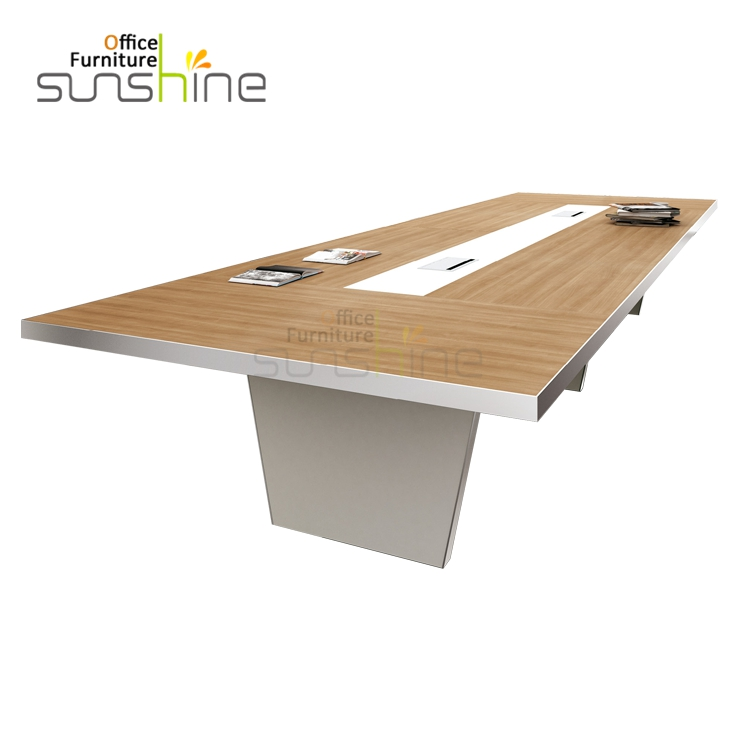BS H4815 MFC Panel E1 Grade Quality Cable Management 10 Person Conference  Table Specifications