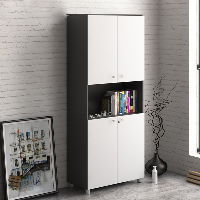 Modern office storage bookcase with doors BY-C901