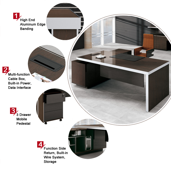 function furniture. New Boss Series BS-D2810 Most Popular Hot Sell Executive Office Desk Function Furniture