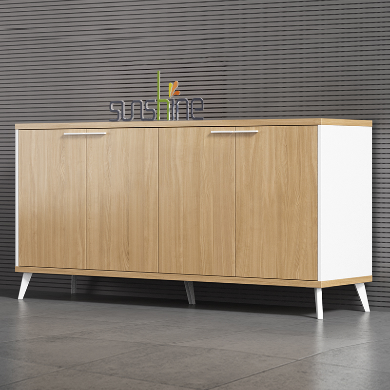 Modern european style color selective wooden drawer file cabinet for office BY-C501