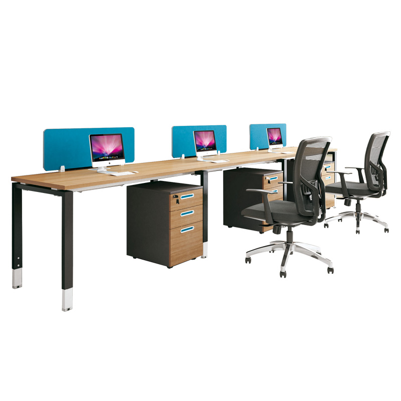 xfsm2460 wood office desk straight 2 seats